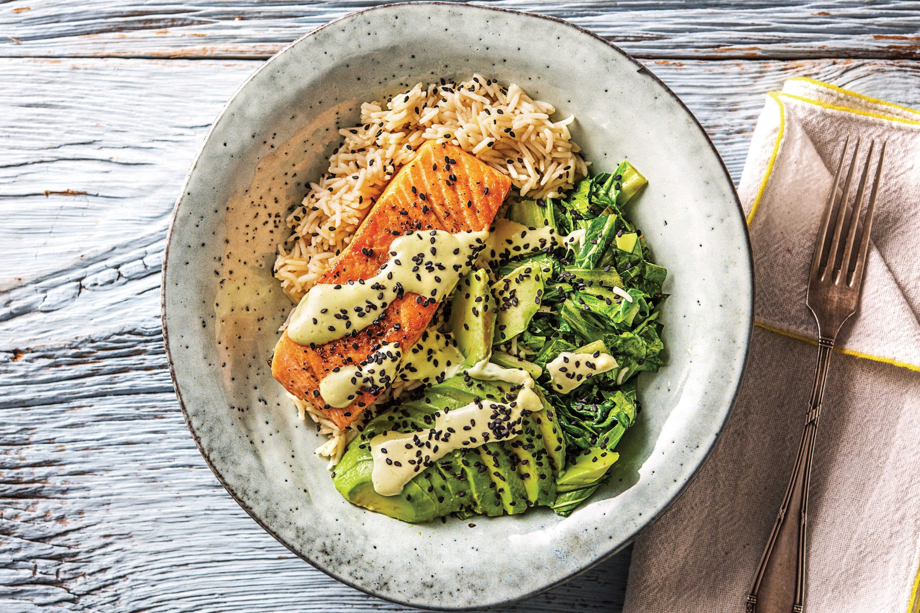 Seared Salmon 'Sushi' Bowl