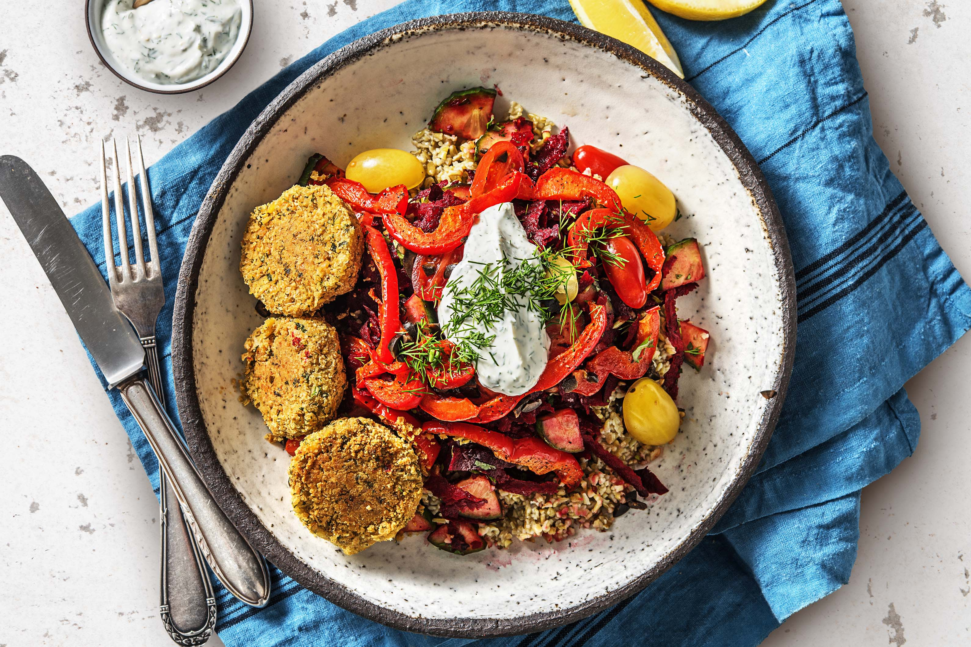 Mediterranean Falafel Bowl (v)