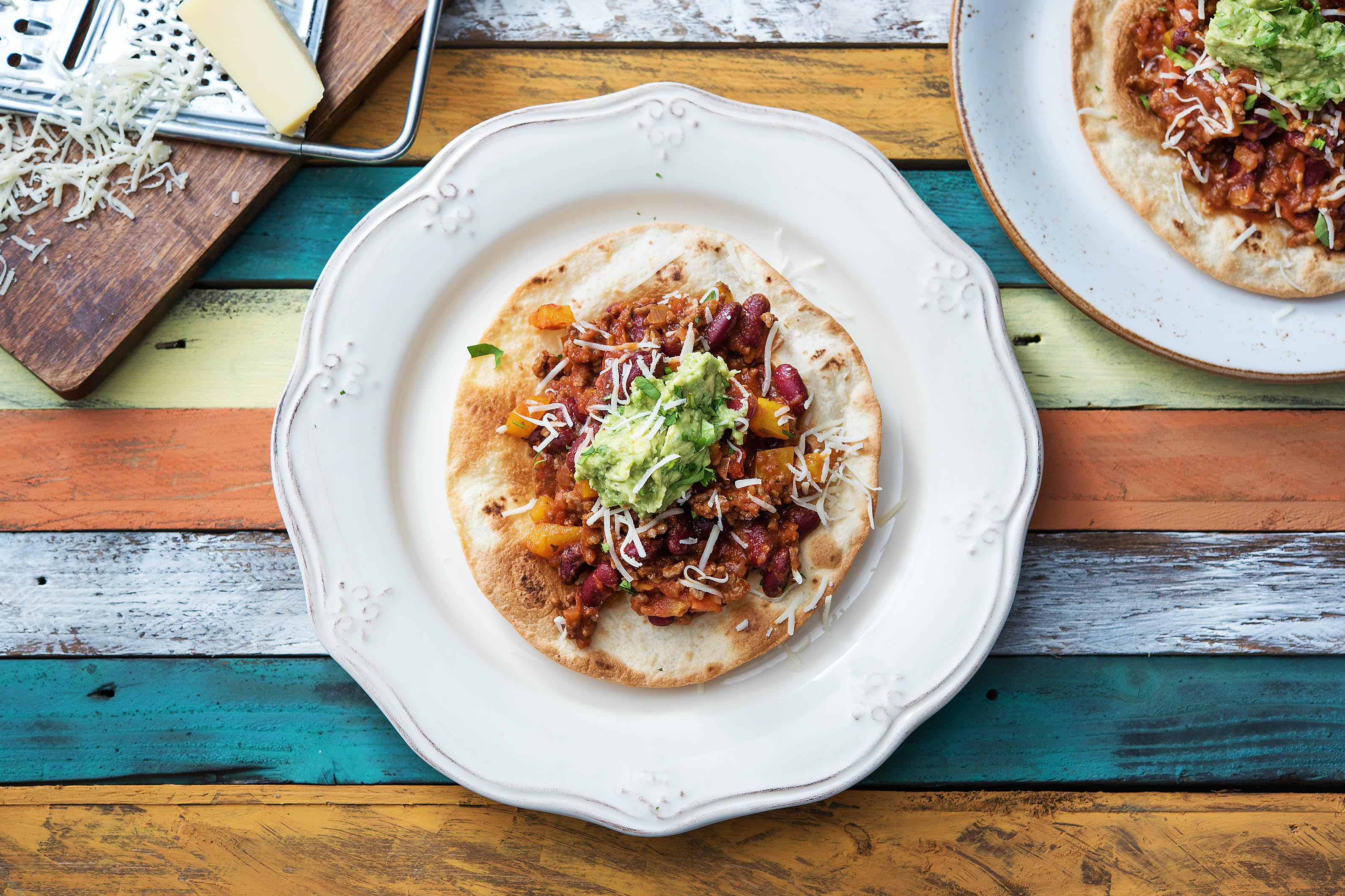 Mexican Spiced Chilli Tostadas