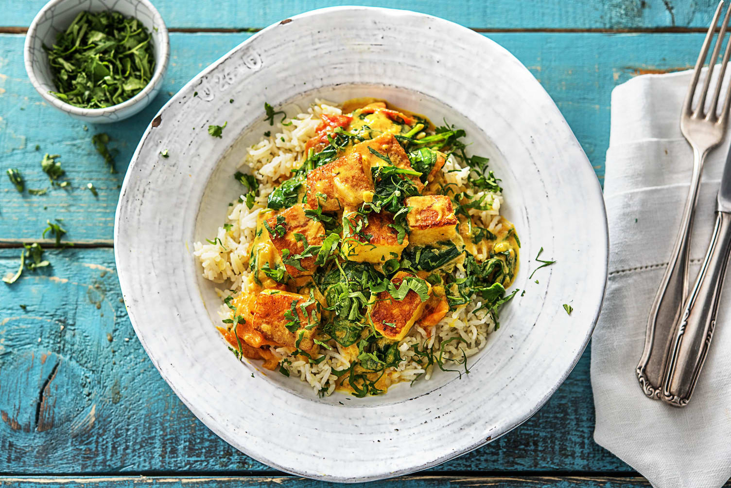 Spinach and Paneer