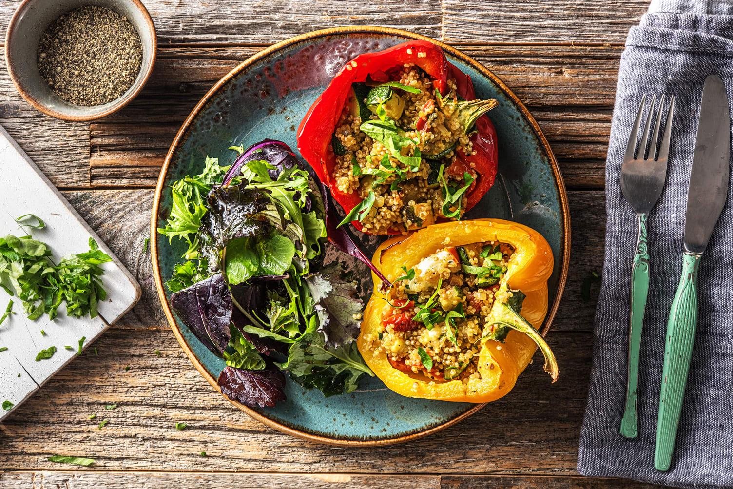 Veggie Quinoa-Stuffed Peppers