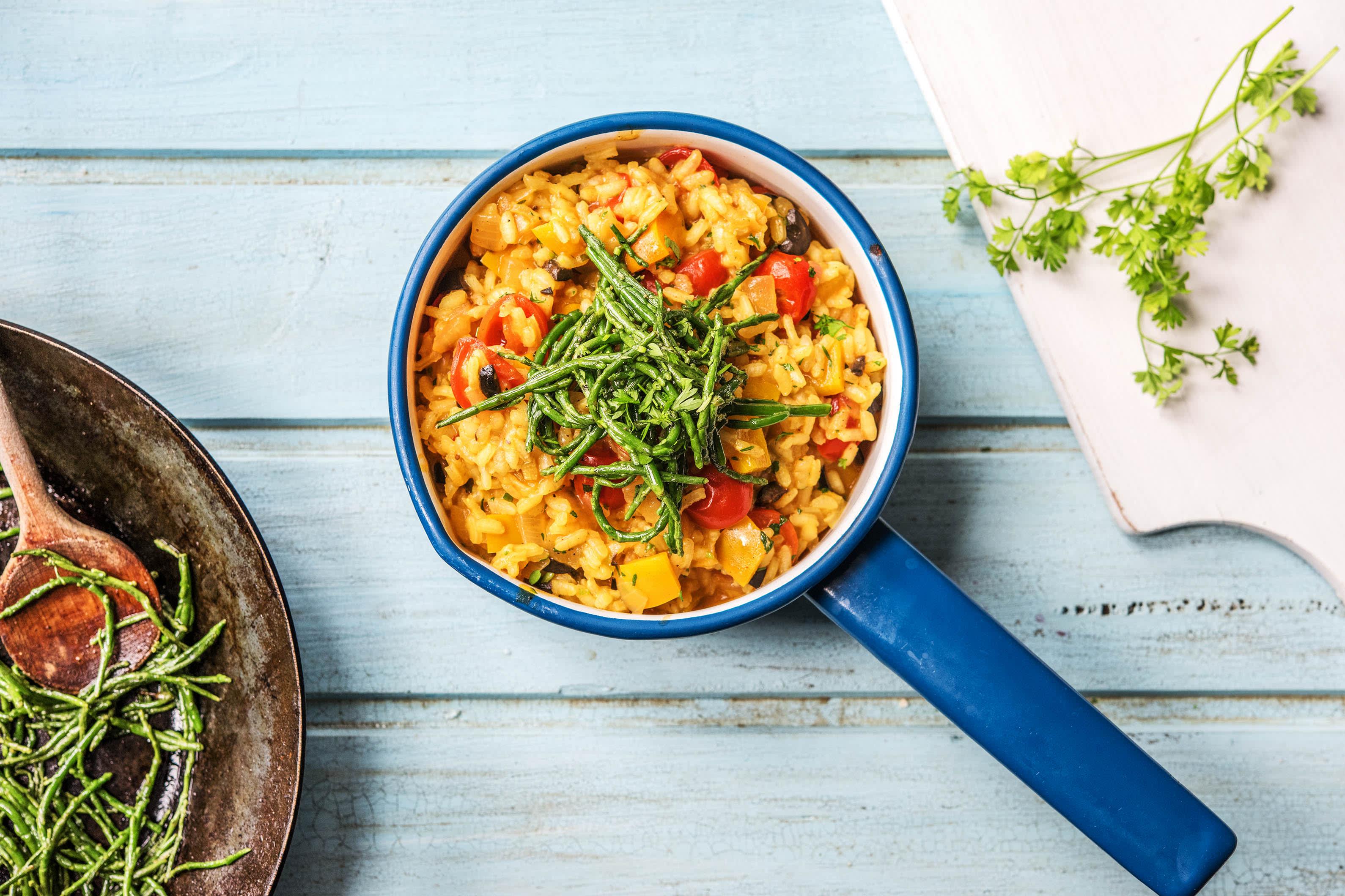 Samphire and Spanish Rice