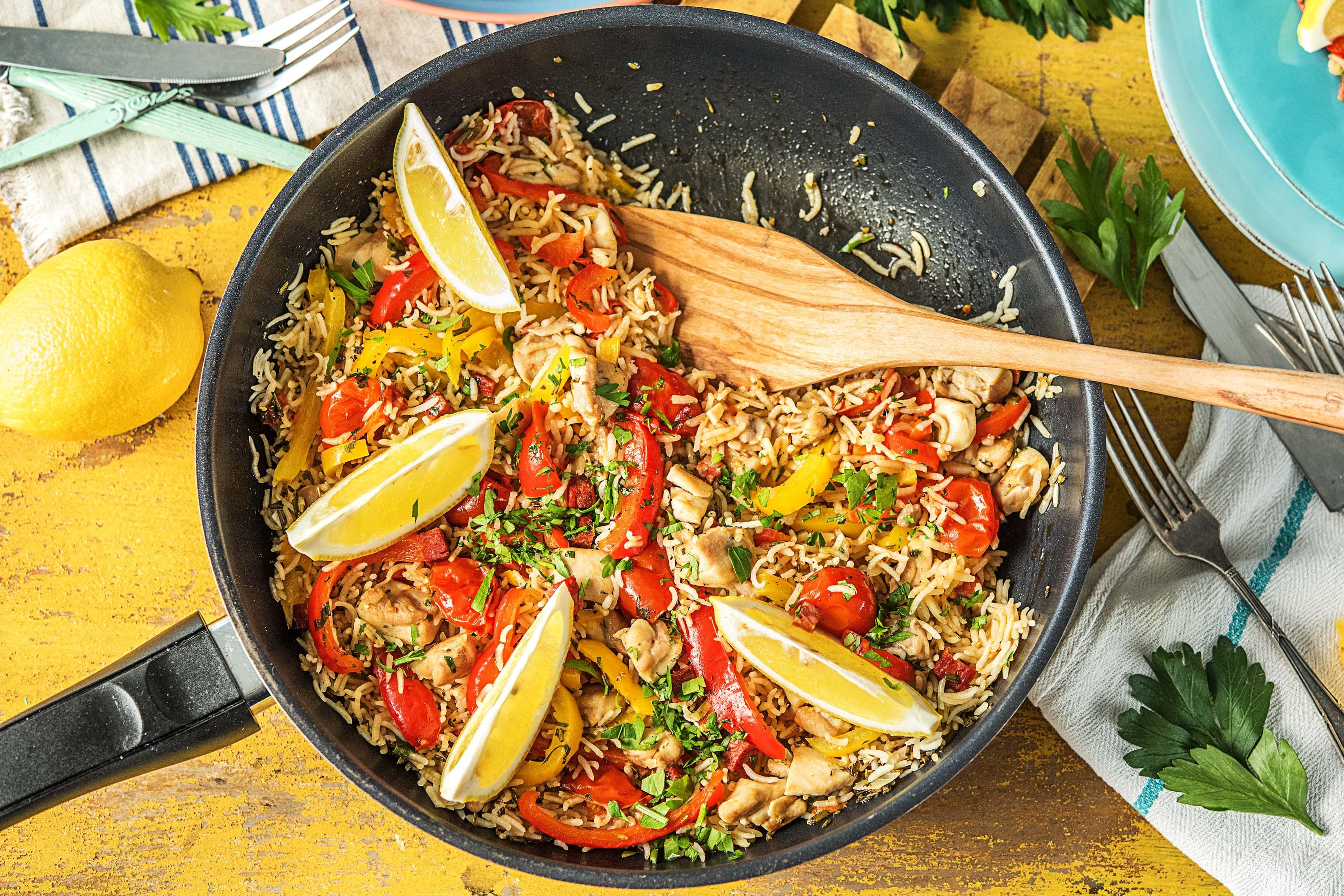 Rice With Chicken Chorizo Recipe Hellofresh