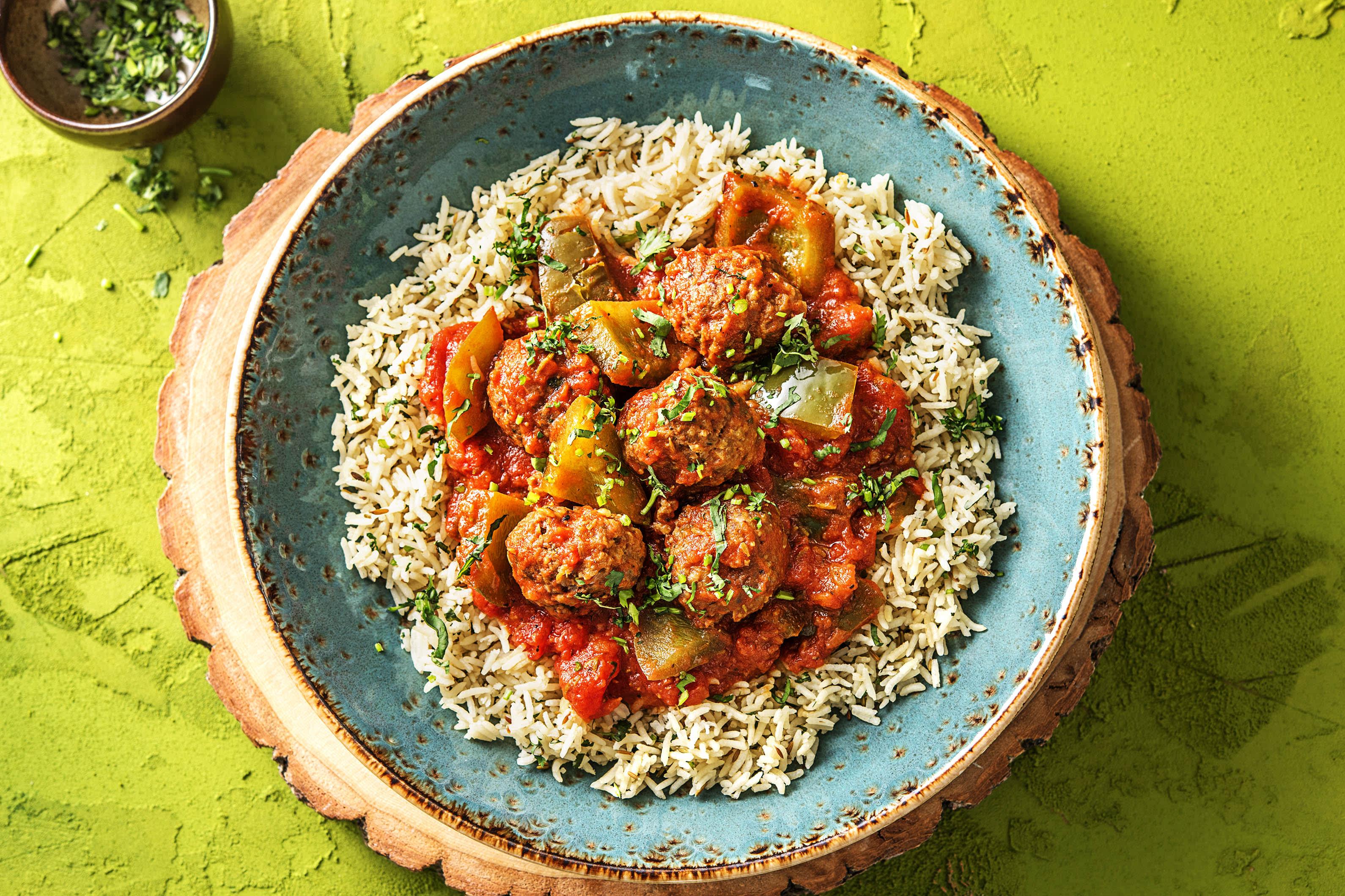 Lamb Meatball Stew With Rice Recipe Hellofresh