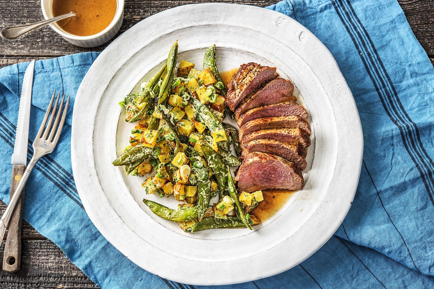 Pan-Seared Steak au Jus