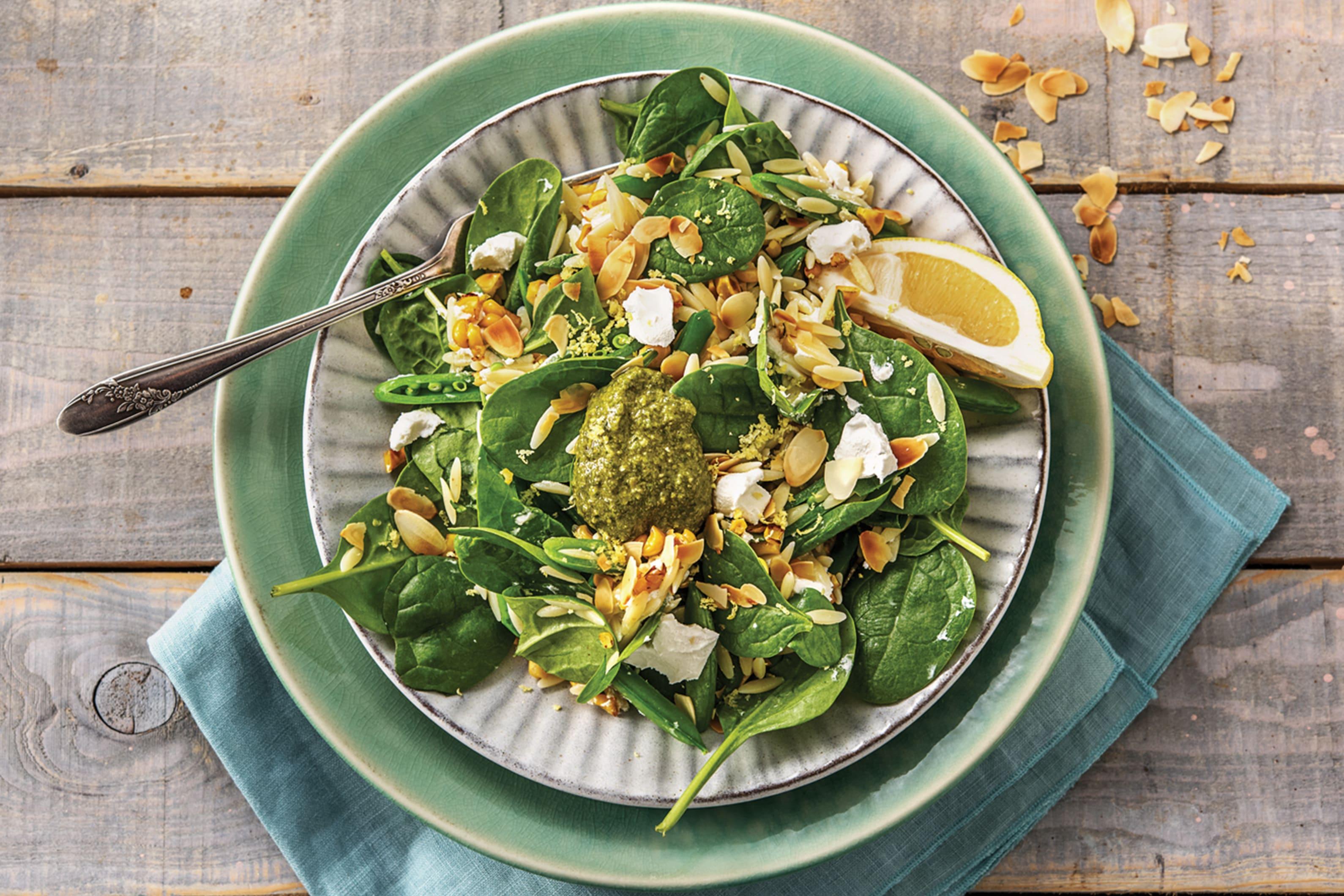 Summer Pesto Risoni Salad