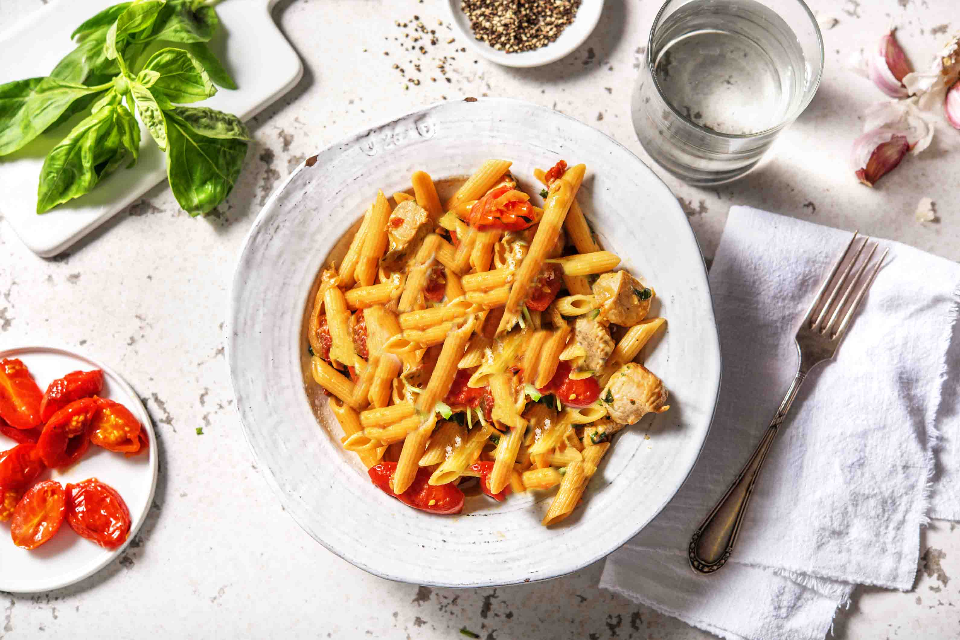 Sun-Dried Tomato Turkey Pasta