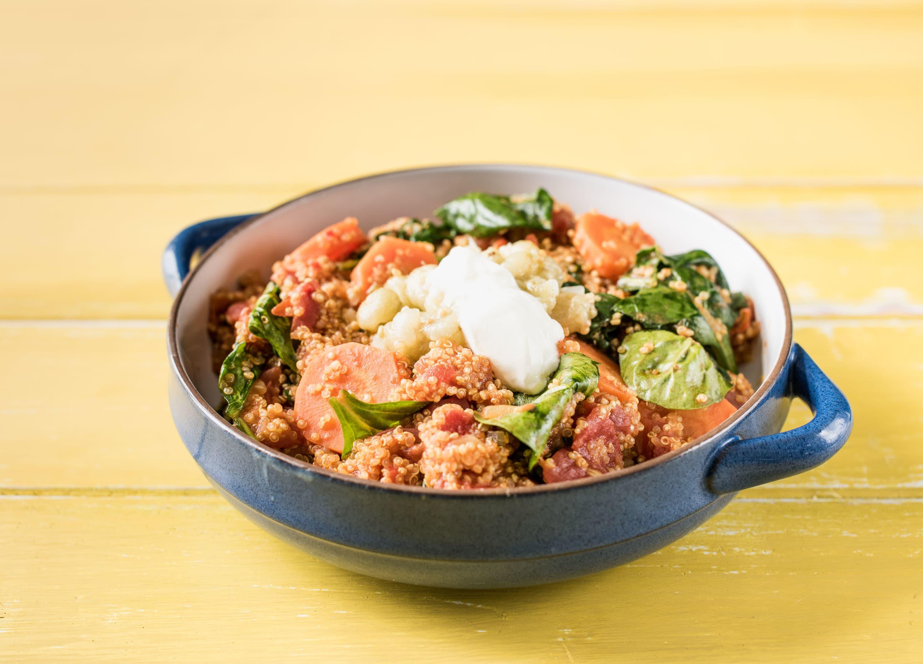 Tomatoey Spinach Quinoa Curry