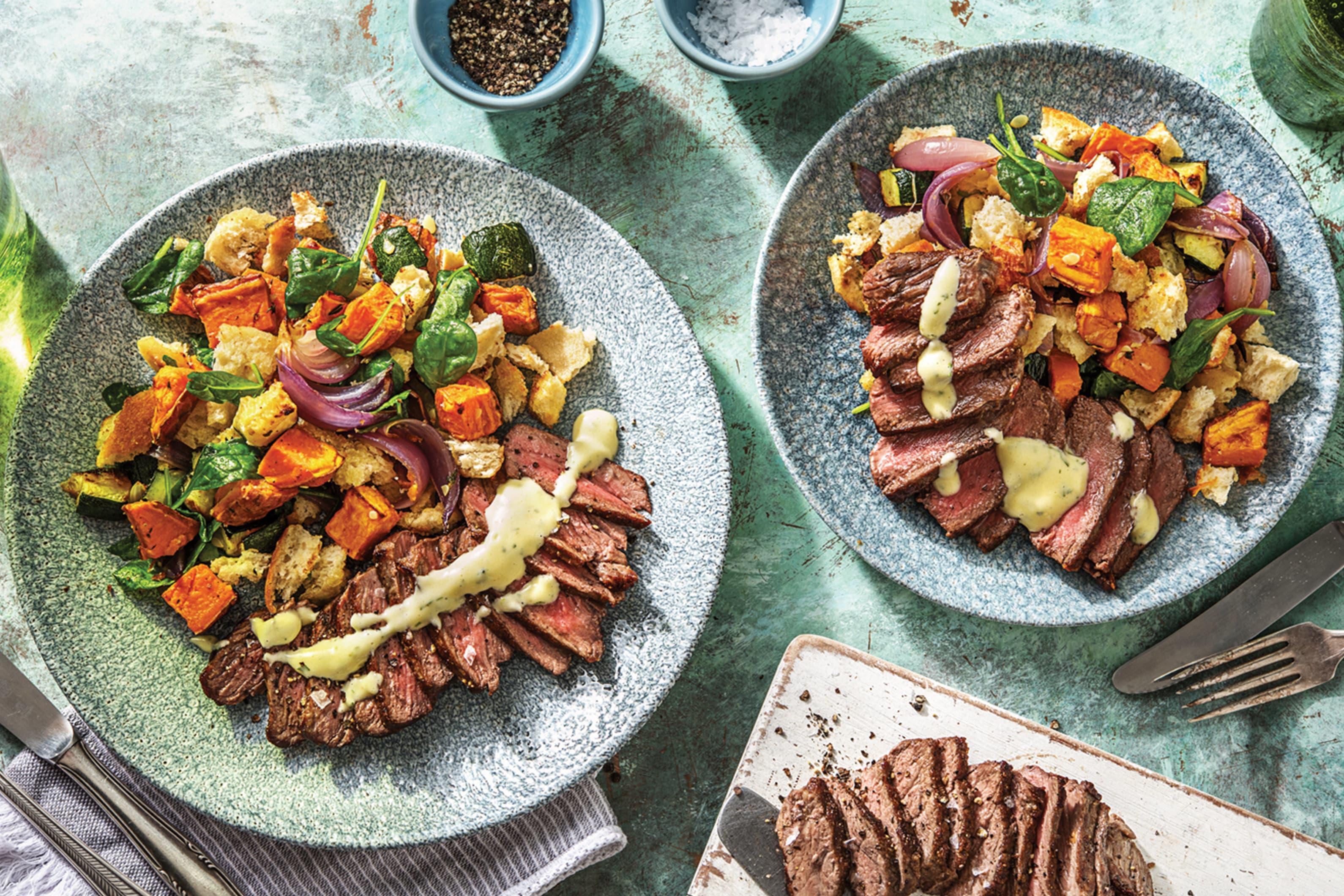 Tuscan Beef & Roast Vegetables