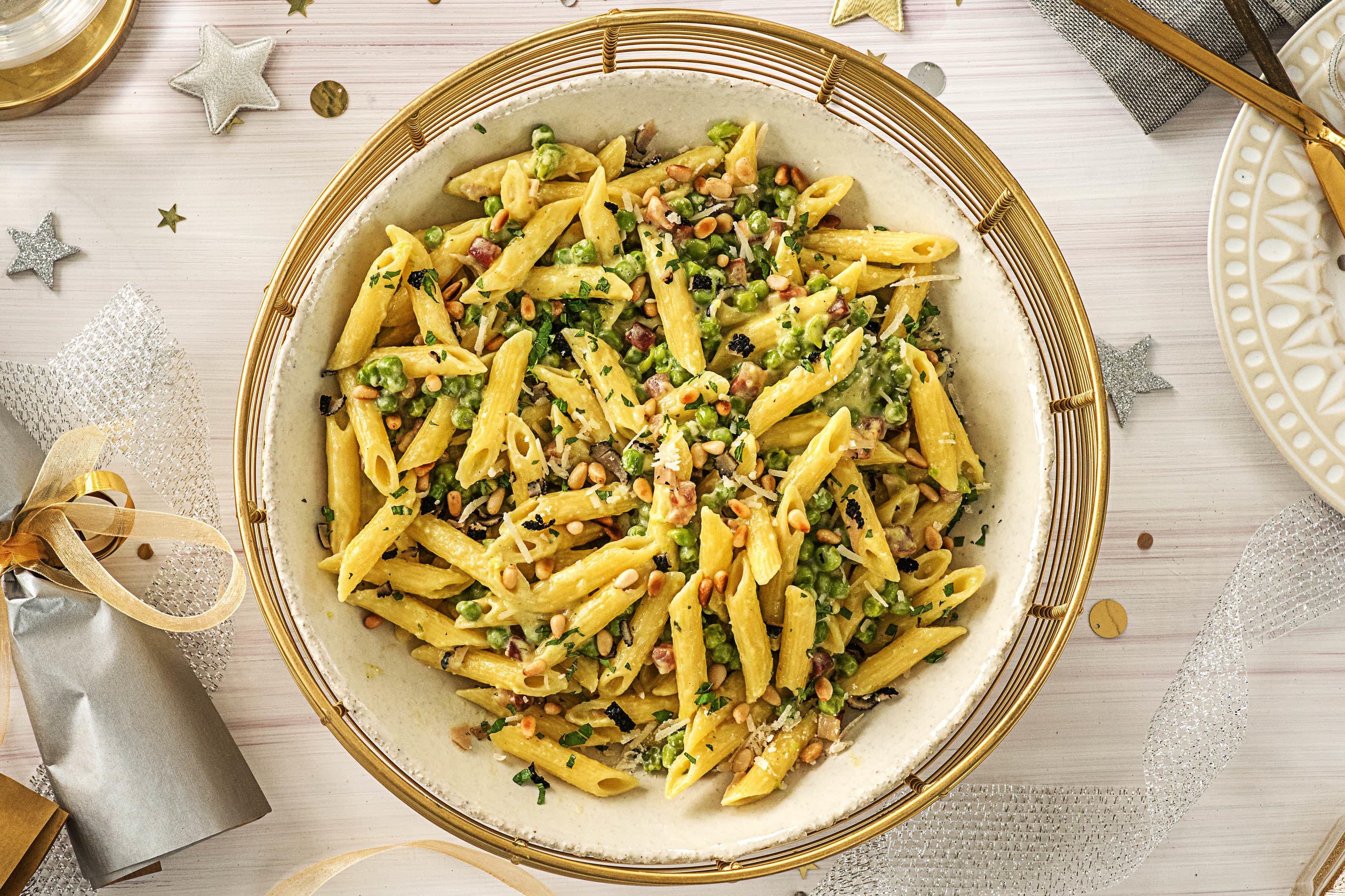 truffled penne pasta recipe hellofresh