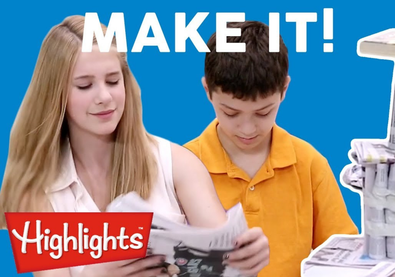 Make It: Newspaper Skyscraper & More by Highlights For Kids