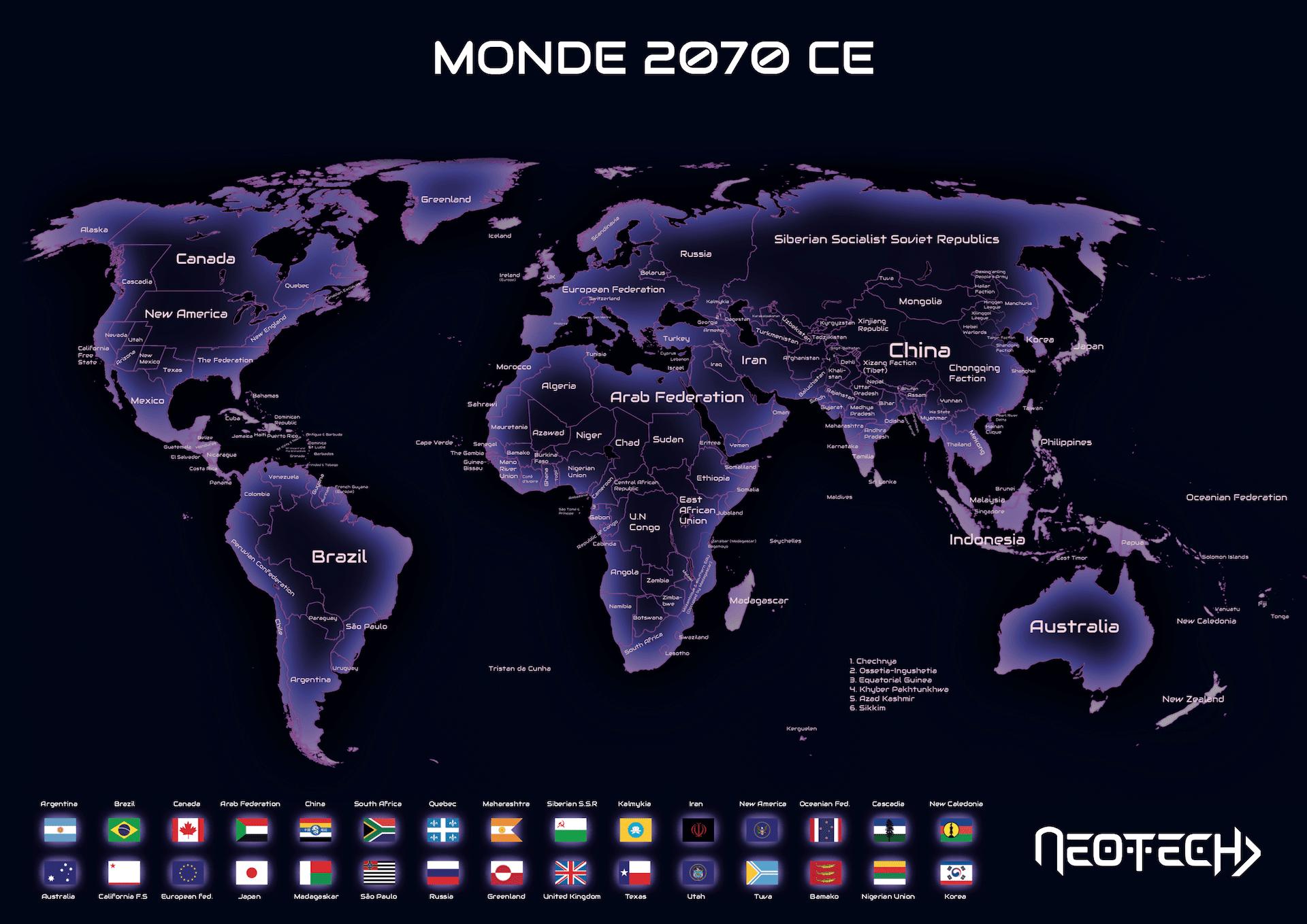 Världskarta 2070