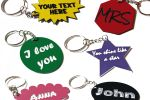 Custom Keychain or Tag   Multiple shapes and colors