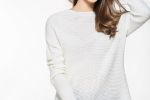 NEW MARION's Charming Pullover Sweater with Textured Knit Stitches