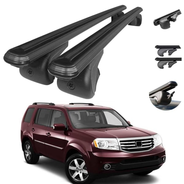 Roof Rack Cross Bars Luggage Carrier Black Set For Honda Pilot 2009 20 Omac Shop Usa Auto Accessories