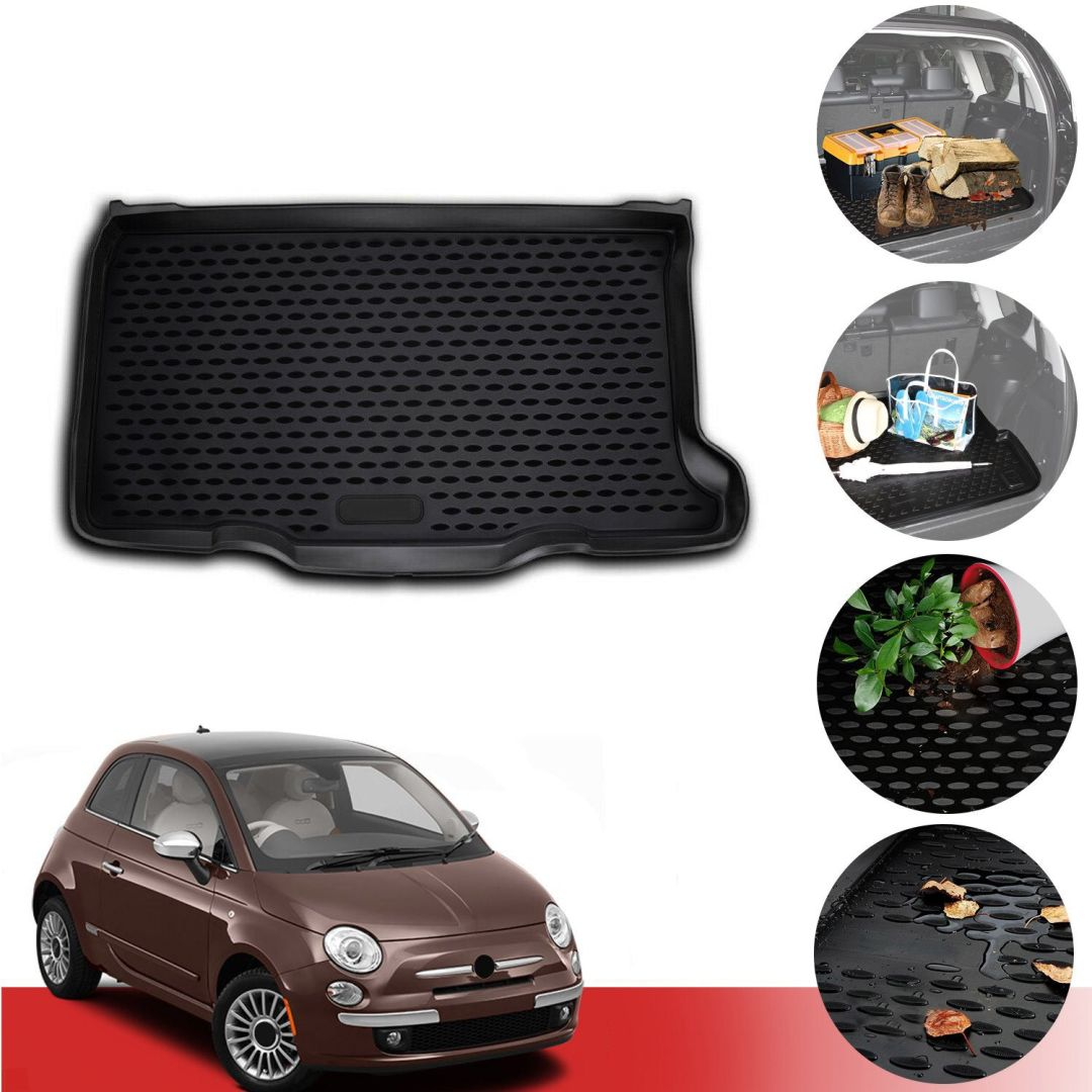 WATERPROOF BLACK SINGLE SEAT COVER 09-ON For FIAT 500C 500 C
