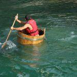 Greek crossing a river
