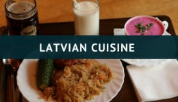 Latvian food and delicious food