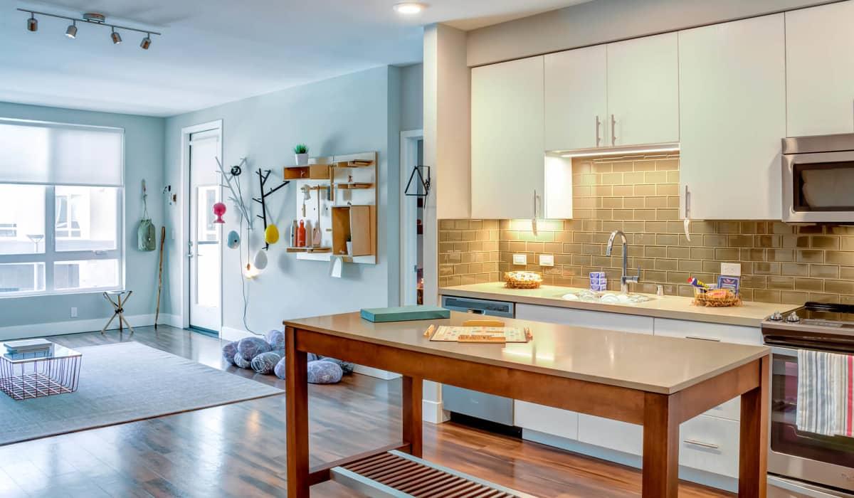 Cobalt Apartment Kitchen & Living Room