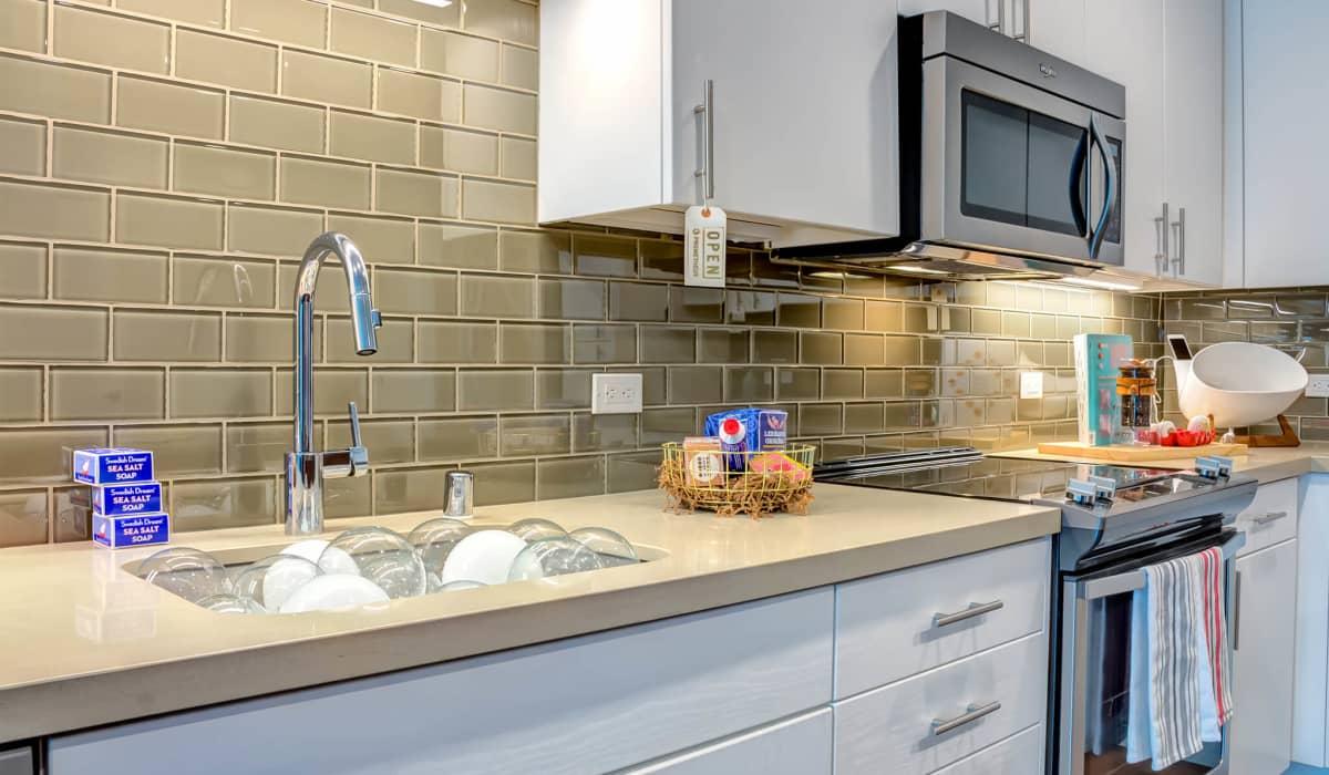 Cobalt Apartment Kitchen