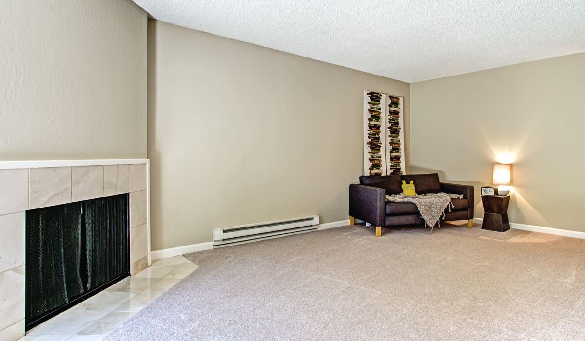 Boardwalk Apartment Living Room & Fireplace