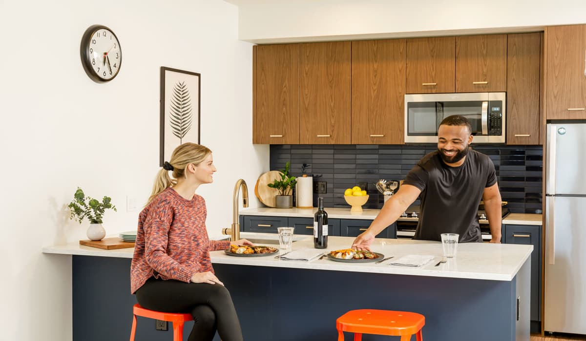Raleigh Slabtown Apartment Home Kitchen