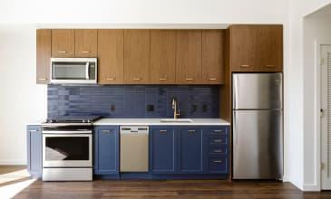 Raleigh Slabtown Apartment Kitchen