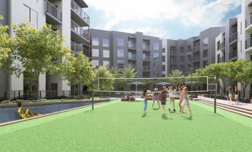 The Benton Courtyard Volleyball
