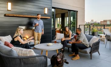 Raleigh Slabtown Rooftop Fireplace