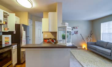 Emerald Place Apartment Kitchen & Living Room
