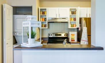 Emerald Place Apartment Kitchen & Laundry