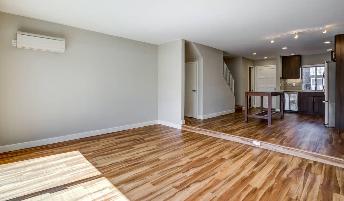 Forest Glen Apartment Kitchen & Living Room