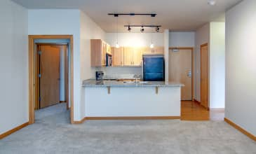 10th @ Hoyt Apartment Kitchen & Living Room