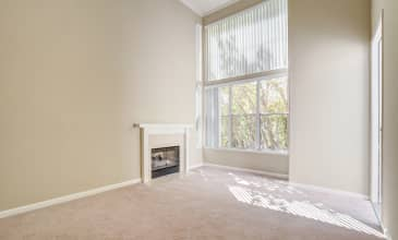 Park Place Apartment Living Room Fireplace