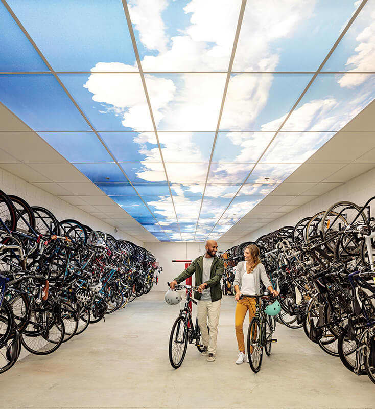 Bike room with bike storage