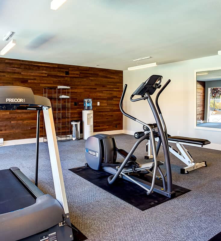 Fitness center with elliptical