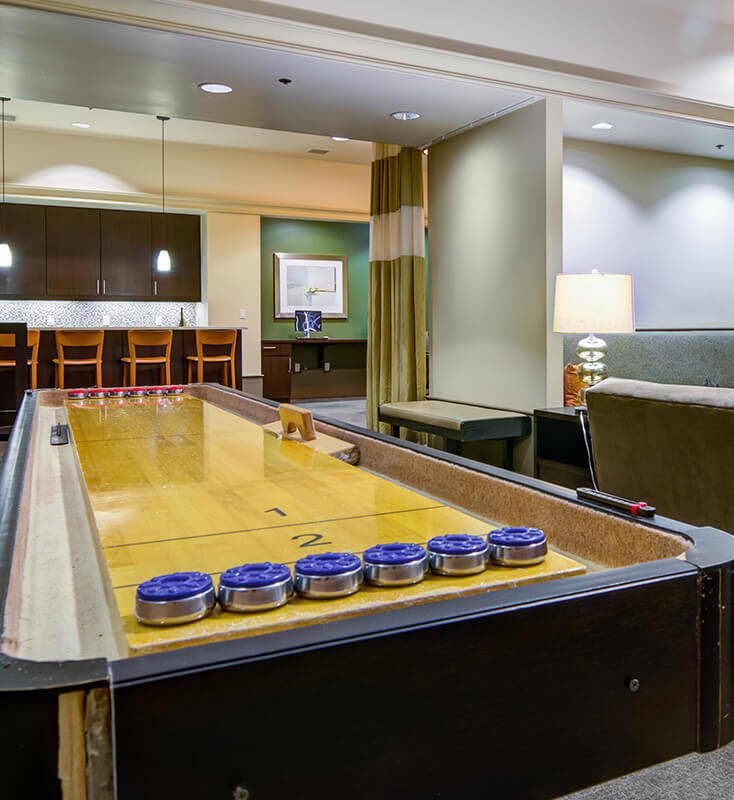Shuffleboard in clubhouse