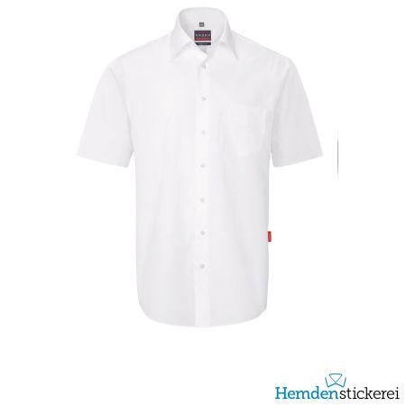 Hakro Herren Hemd 1/2 Arm Performance Kent-Kragen mit Brusttasche Weiß