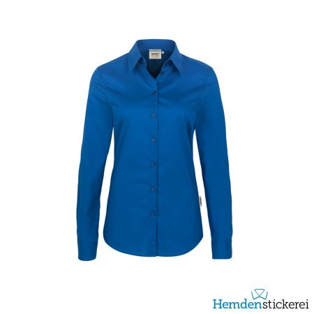 Hakro Damen Bluse 1/1 Arm Performance Kent-Kragen Royalblau