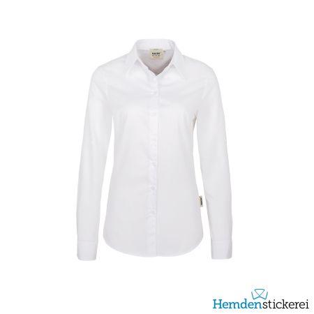 Hakro Damen Bluse 1/1 Arm Performance Kent-Kragen Weiß