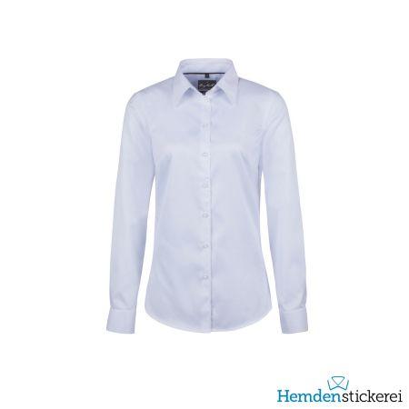 Hakro Damen Bluse 1/1 Arm Oxford Kent-Kragen Ozeanblau