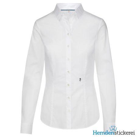 Seidensticker Damen Bluse SLIM STRETCH 1/1 Arm Kent-Kragen Weiß