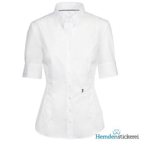 Seidensticker Damen Bluse SLIM 1/2 Arm Kent-Kragen bügelfrei Weiß