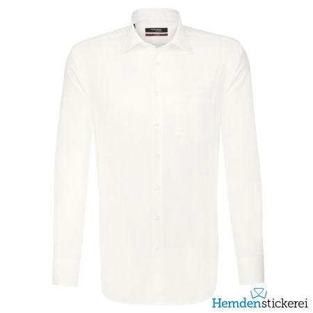 Seidensticker Herren Hemd REGULAR 1/1 Arm Kent-Kragen mit Brusttasche bügelfrei Beige