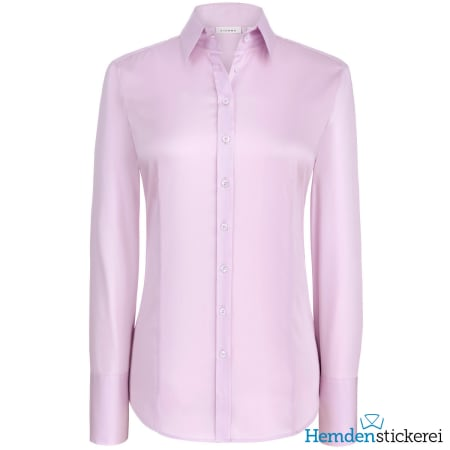 Eterna Bluse COMFORT FIT Popeline Stretch 1/1 Arm Kragen Rosa