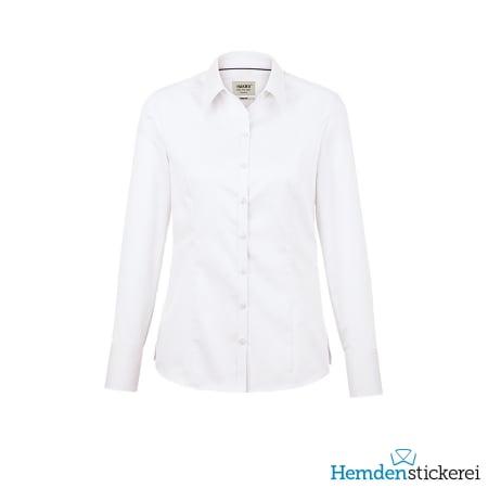 Hakro Bluse 1/1 Arm Business Kent-Kragen Weiß