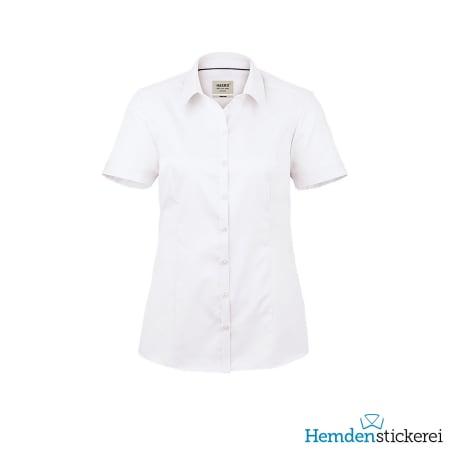 Hakro Bluse 1/2 Arm Business Kent-Kragen Weiß