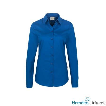 Hakro Bluse 1/1 Arm Performance Kent-Kragen Royalblau