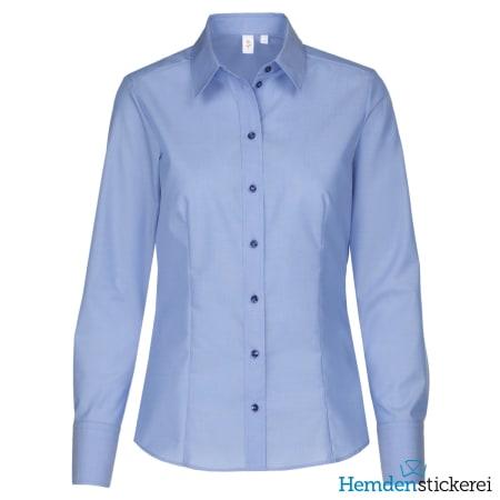 Seidensticker Bluse MODERN 1/1 Arm Kragen Blau