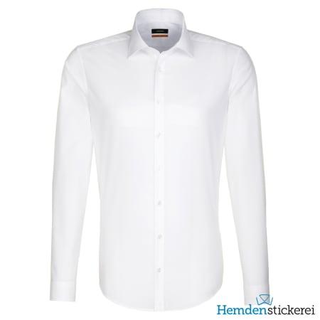 Seidensticker Hemd SLIM 1/1 Arm Kent-Kragen Weiß